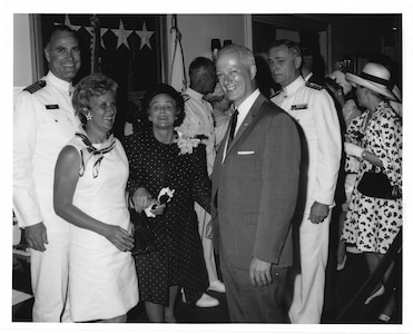 Admiral Chester R. Bender, Change of Command Ceremony June 1, 1970 aboard the USCGC Gallatin at the US Navy Yard. Coast Guard Archives, Commandant Chester R. Bender