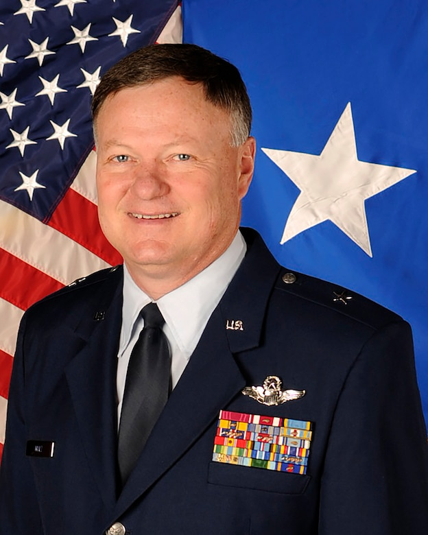 Brig. Gen. Russ Walz poses for his official biography photo.