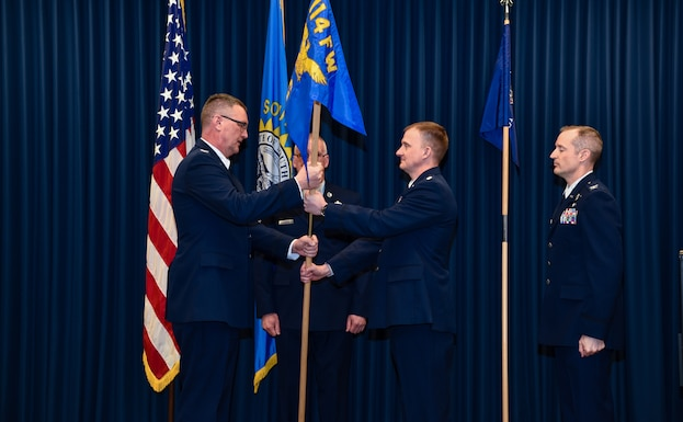 Lt. Col. Cory Kestel took command of the 114th Operations Group from Col. Mark Morrell who assumed the 114th Fighter Wing vice commander position during a Change of Command Ceremony at Joe Foss Field, S.D. March 2, 2019.