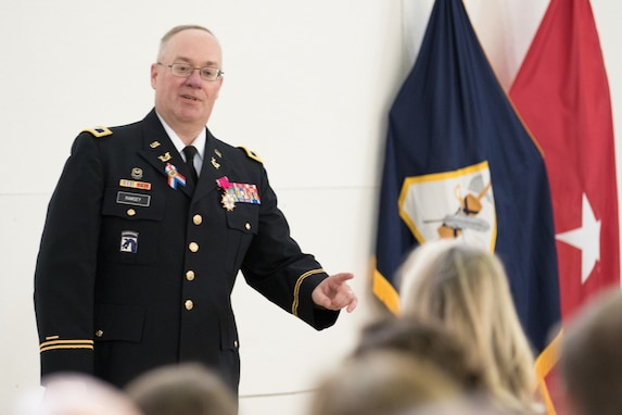 Legal Command hosts retirement ceremony for COL Ramsey and MSG Moore