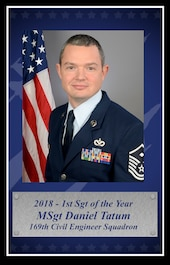 Master Sgt. Daniel Tatum, 2018 South Carolina Air National Guard First Sergeant of the Year