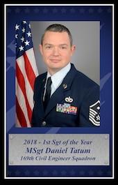 Master Sgt. Daniel Tatum, 2018 South Carolina Air National Guard First Sergeant of the Year