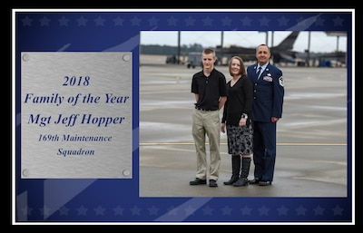 Master Sgt. Jeffrey Hopper, 2018 South Carolina Air National Guard Family of the Year