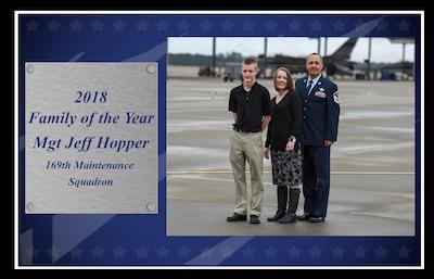 Master Sgt. Jeffrey Hopper, 2018 South Carolina Air National Guard Family of the Year