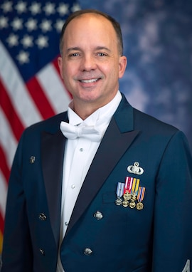 Official photo of Col. Don Schofield, commander and conductor of The United States Air Force Band, Joint Base Anacostia-Bolling, Washington, D.C.