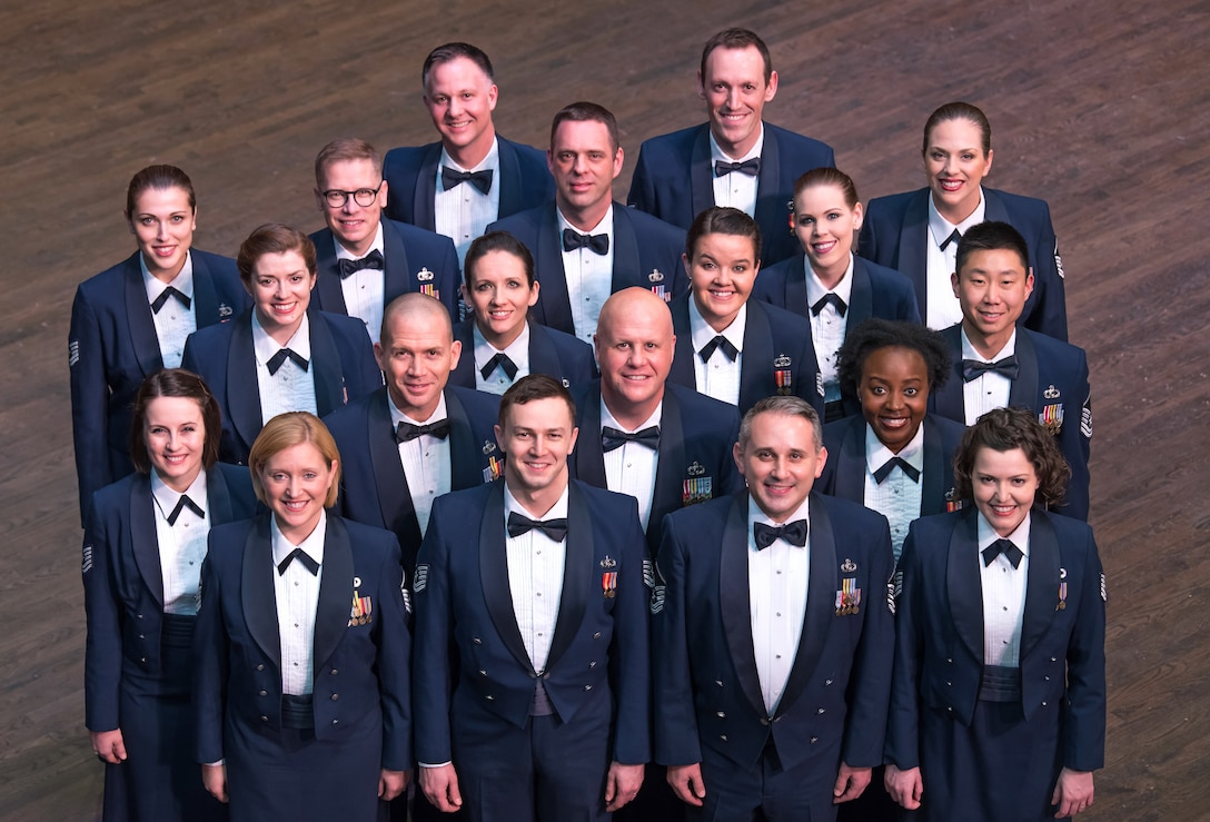 Official photo of the United States Air Force Singing Sergeants