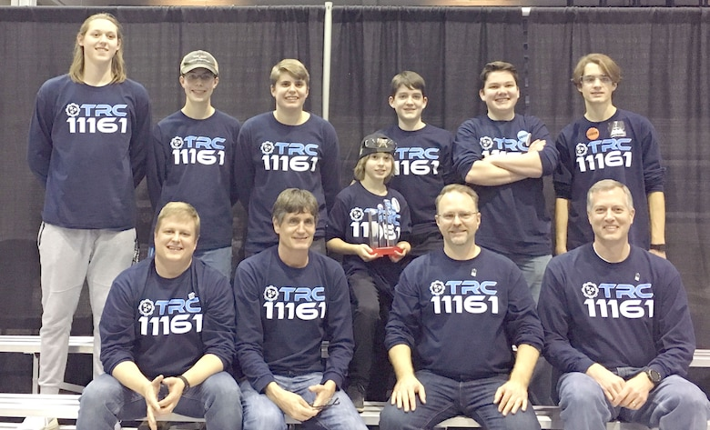 Tennessee Robotics Club Team #11161 out of Murfreesboro won the Collins Aerospace Innovate award and finished tenth in qualification rounds at the regional FIRST® Tech Challenge last month at Middle Tennessee State University campus in Murfreesboro. The team was only five points away from advancing to the third semi-final round. TRC Team #1161 was one of six teams supported by the Arnold Air Force Science, Technology, Engineering and Mathematics program. (Courtesy photo)