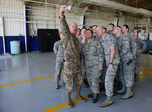Members of Team Seymour provided a warm welcome for the commander of Air Combat Command during his trip back to Seymour Johnson Air Force Base, North Carolina, Feb. 24-27, 2019.