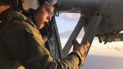 Distressed Cruise Passenger Rescued by HSC-25 in Pacific