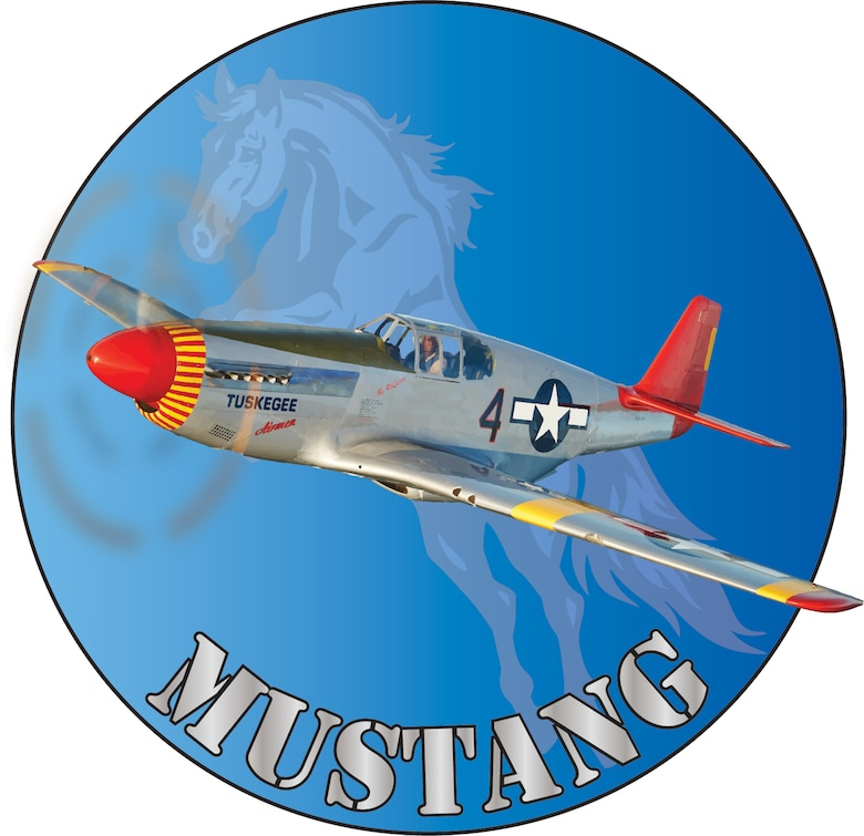 Nose art created in honor of the North American Aviation P-51 Mustang aircraft flown by the famous Tuskegee Airmen. (Courtesy illustration)