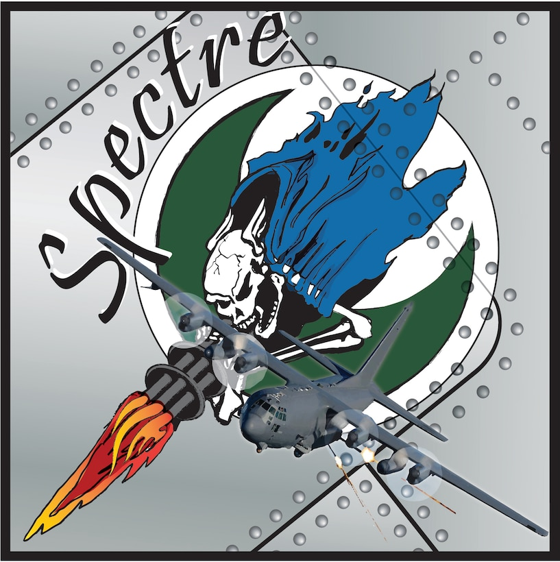 Nose art created in honor of the Lockheed AC-130H Spectre gunship. (Courtesy illustration)