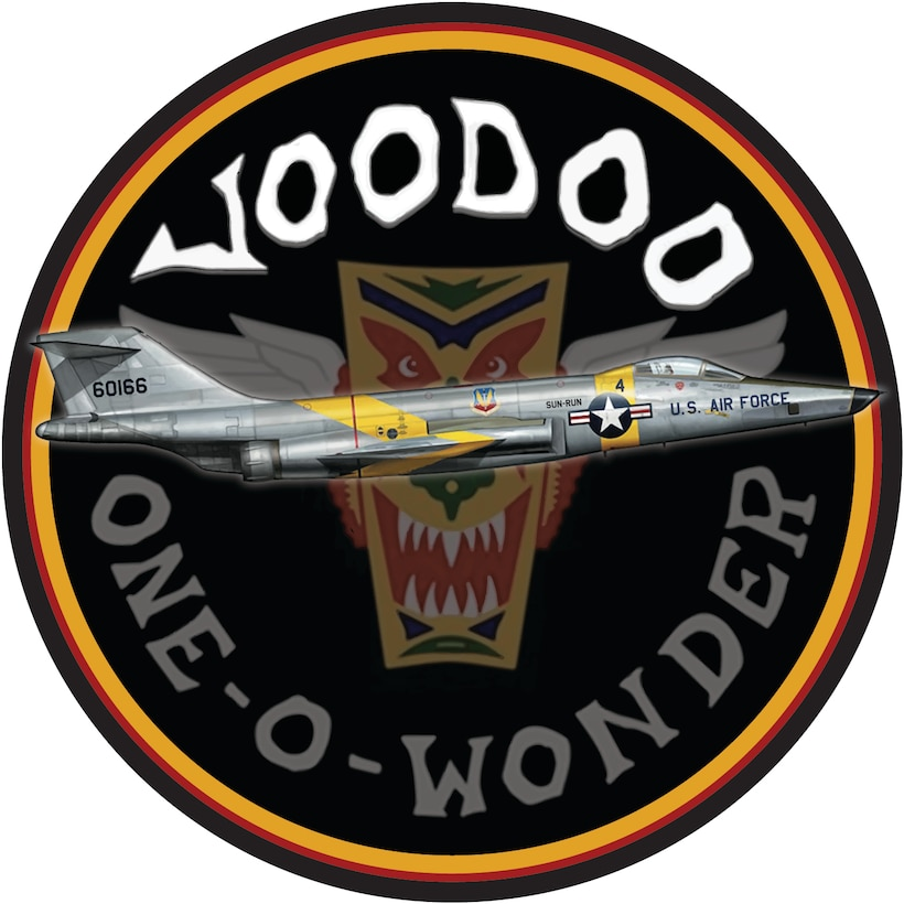 Nose art created in honor of the McDonnell F-101 Voodoo supersonic jet fighter. (Courtesy illustration)