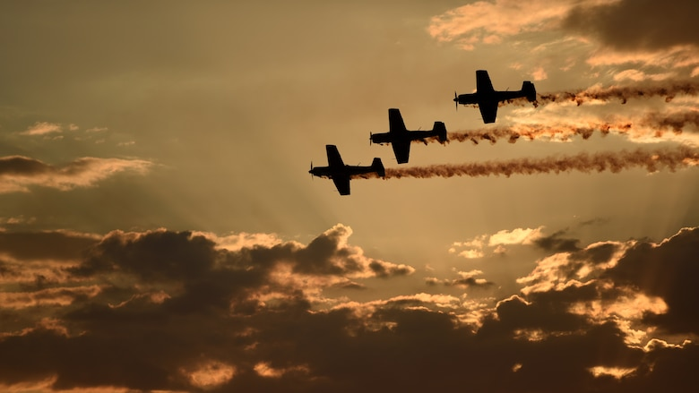 The Russian Roolettes, an aerial demonstration team, flies the skies at the 2019 Australian International Airshow and Aerospace & Defence Exposition (AVALON 19) in Geelong, Victoria, Australia, March 1, 2019.