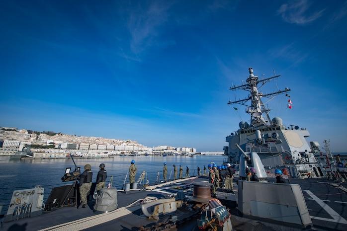 USS Donald Cook Arrives in Algiers, Algeria