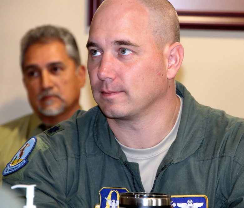 Lt. Col. Brian Boettger, 96th Flying Training Squadron instructor pilot, participates in a two-day flight commander training event at the 340th Flying Training Group in February. Boettger and his family have embraced the Del Rio, Texas, community outside Laughlin Air Force Base and invite others to give the community a try. (U.S. Air Force photo by Janis El Shabazz)