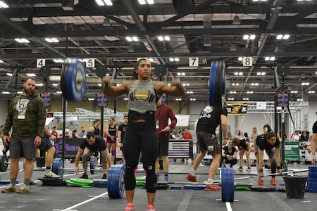 Shepherd after completing a clean and jerk.