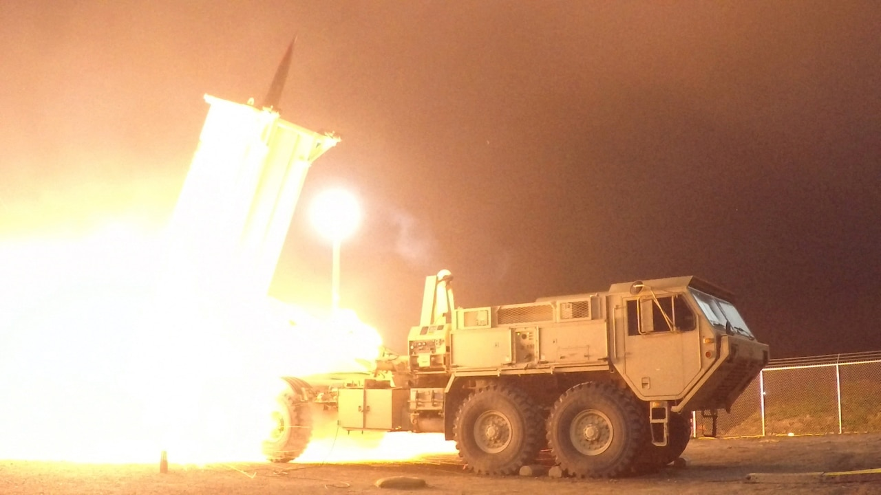 Terminal High Altitude Area Defense system missile launch