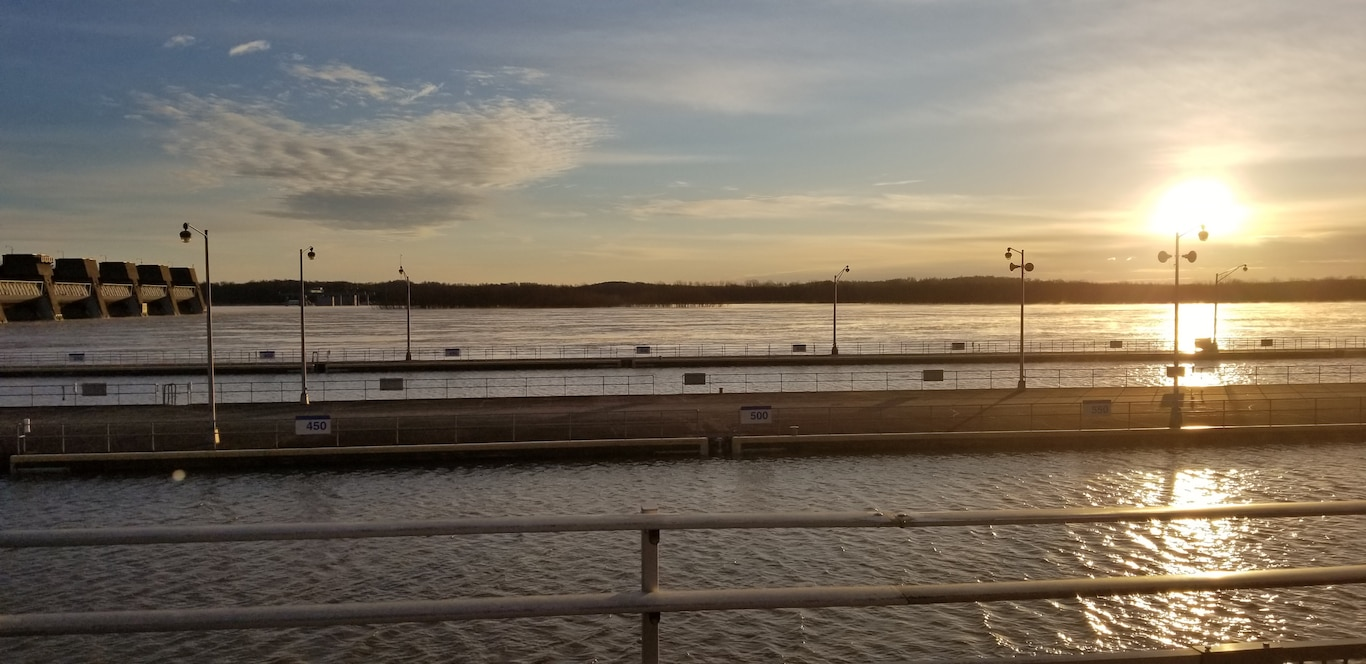 Good morning from Smithland Locks and Dam