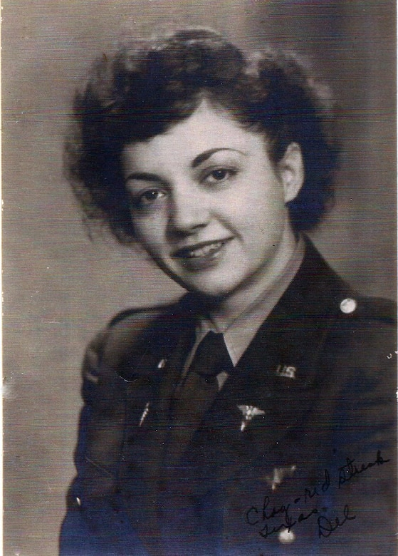 "U.S. Army Air Corps 1st Lt. Madeline ""Del"" D'Eletto, a flight nurse who treated U.S. Service Members in Europe during World War II. (Courtesy photo by Madeline D'Eletto)"
