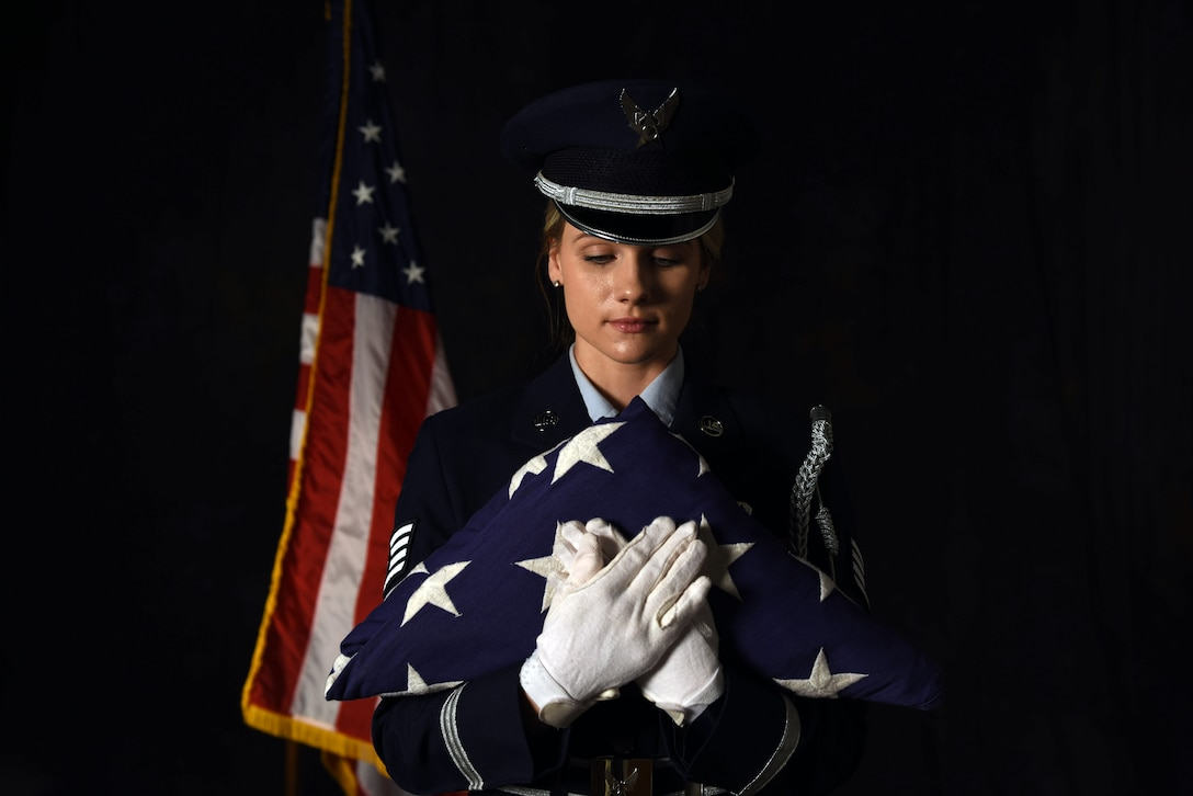 180FW honor guard member stands out