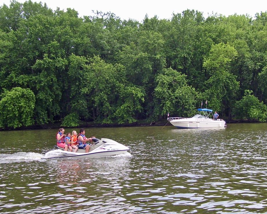 Jet Ski and Boat