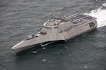 The future littoral combat ship USS Cincinnati (LCS 20) conducts acceptance trials in the Gulf of Mexico.
