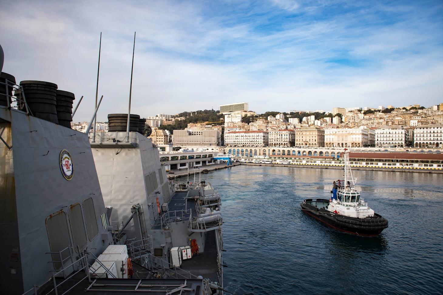 USS Donald Cook Departs Algiers, Algeria