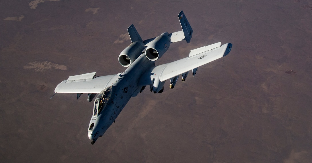 A U.S. Air Force A-10 Thunderbolt II breaks away after being refueling by a KC-135 Startotanker from the 340th Expeditionary Air Refueling Squadron over Afghanistan, Jan. 21, 2019. The 340 EARS maintain a 24/7 presence in the U.S. Central Command area of responsibility, supporting U.S. and coalition aircraft in various operations in countries such as Iraq, Syria and Afghanistan. (U.S. Air Force Photo by Staff Sgt. Clayton Cupit)