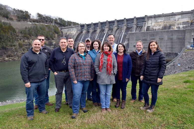 LANCASTER, Tenn., (March. 5, 2019)— U.S. Army Corps of Engineers Nashville District Commander, Lt. Col Cullen Jones, welcomed 12 students from the 2019 Regional Leadership Development Program Tier III class from the Great Lakes and Ohio River Division during a recent visit to the district.  (Photo by Mark Rankin)