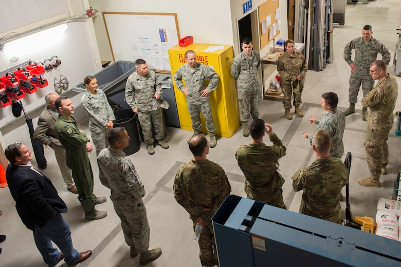 Finalists from the 2019 Air Force Spark Tank competition visited the Air Force Technical Applications Center here March 1, 2019 to meet with members of the center's Innovation Lab and observe how failure has led to success for the nuclear treaty monitoring organization, headquartered at Patrick Air Force Base, Florida. (U.S. Air Force photo by Matthew S. Jurgens)
