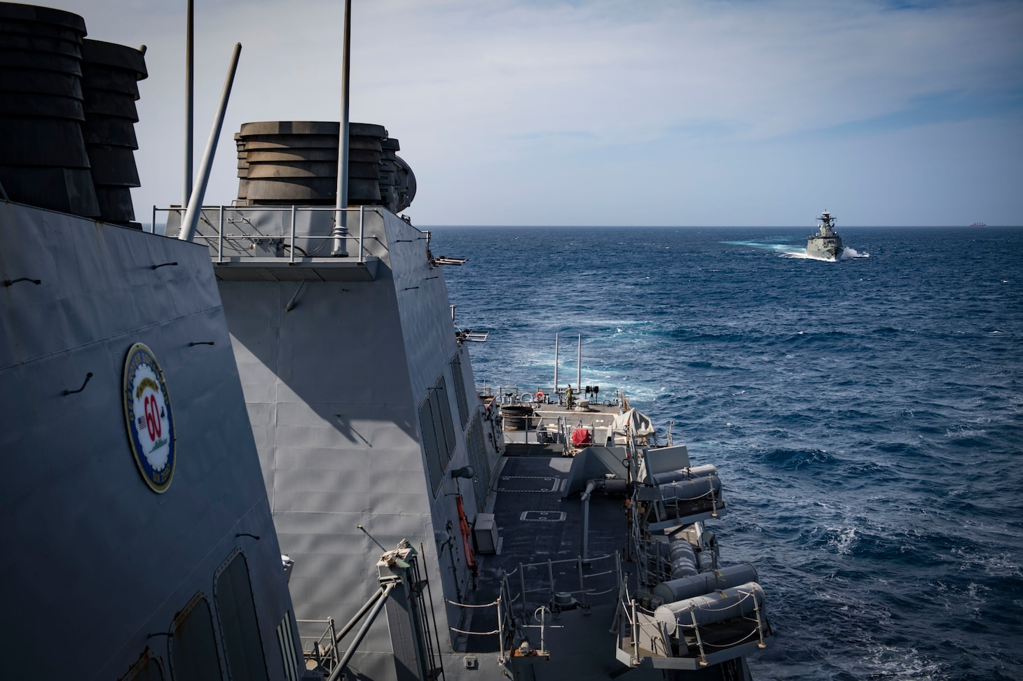 USS Donald Cook PASSEX with Algerian Navy