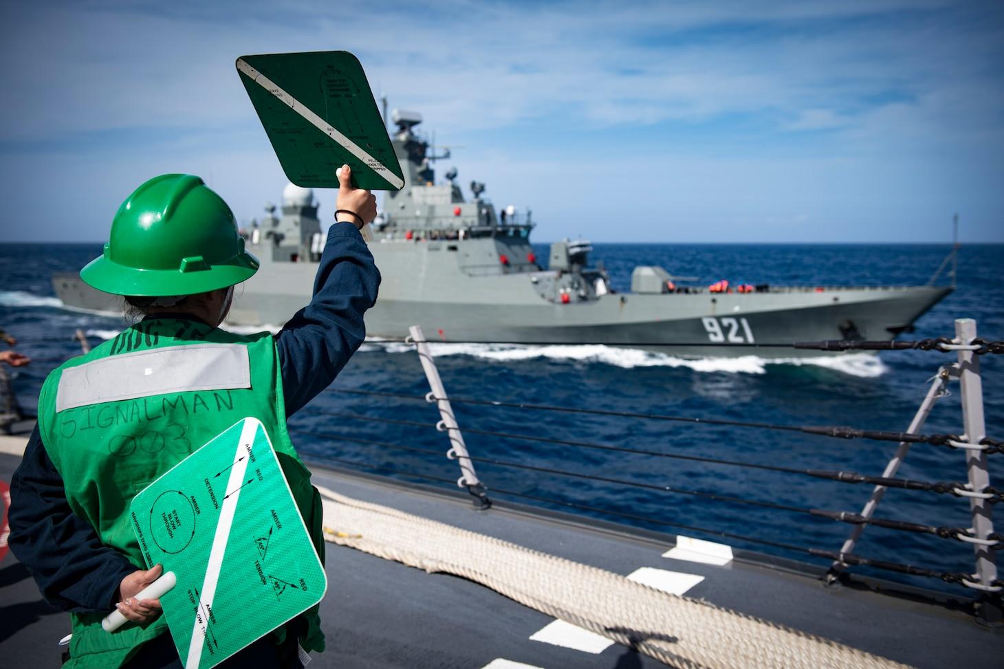 USS Donald Cook PASSEX with Algerian Navy