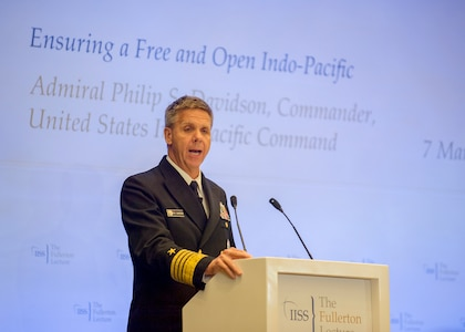 """FULLERTON LECTURE SERIES (Hosted by IISS)  On """"Ensuring a Free and Open Indo-Pacific"""""""