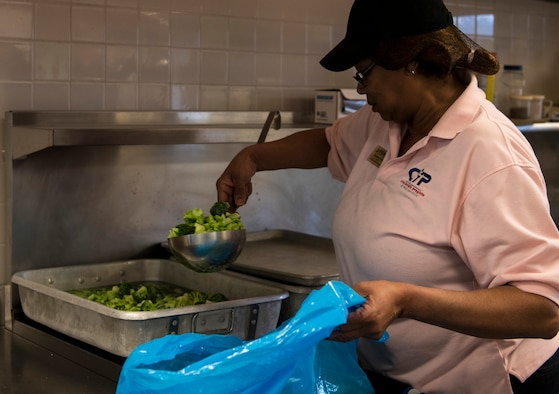 Earnestine Todd, 20th Force Support Squadron Child Development Center (CDC) cook, prepares lunch for the children enrolled at the CDC, March 8, 2019.