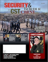 Joint Task Force Civil Support (JTF-CS), USNORTHCOM is on the cover of Security & Border and CST/CBRNE Magazine. Mr. Jeff Theall, Branch Chief of the Information Technology Services Division as JTF-CS, writes about the deployment of the Mobile User Objective Service, a next-generation tactical satellite-based capability designed to give field commanders immediate communication when, where and in any condition.