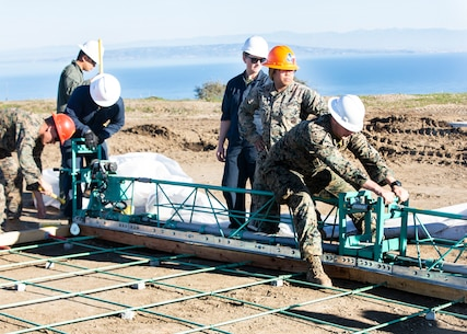 Put your back into it! Marines revamp Airport in the Sky