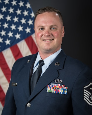 "Master Sgt. John C. ""Chris"" Posten is the Kentucky Air National Guard's 2019 First Sergeant of the Year. Posten served as first sergeant to more than 400 personnel while deployed to the U.S. Central Command Area of Responsibility in 2018 in support of Operation Inherent Resolve. As part of that mission, he engineered the bed-down for the theater's largest swap-out of forces — two maintenance groups — in less than 12 hours with no loss of mission capability. (U.S. Air National Guard photo by Master Sgt. Philip Speck)"