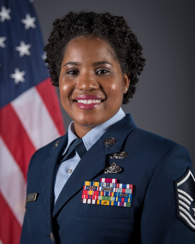 Master Sgt. Brittany Ingram is the Kentucky Air National Guard's 2019 Airman of the Year in the senior NCO category. While mobilized during the past year, she expertly led 55 administrators across five geographically separated units in four countries in the U.S. Central Command Area of Responsibility. She also was instrumental in managing response to a Class-A aircraft mishap that claimed the lives of seven people. (U.S. Air National Guard photo by Master Sgt. Philip Speck)