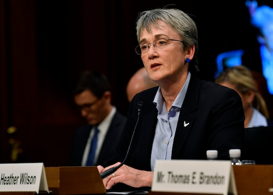 Secretary of the Air Force Heather Wilson testifies before the Senate Judiciary Committee in Washington, D.C., Dec 6, 2017. (U.S. Air Force photo by Wayne A. Clark)