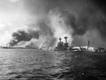 "On December 7, 1941, ""a date which will live in infamy,"" the Japanese attack the U.S. Pacific Fleet based at Pearl Harbor, and nearby military airfields and installations. American shock and anger unites a divided nation and translates into a wholehearted commitment to victory in WWII."