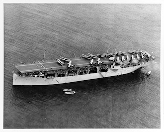On March 20, 1922, the fuel ship USS Jupiter is recommissioned as USS Langley (CV-1), the Navy's first aircraft carrier. In WWII, on January 27, 1942, while carrying U.S. Army P-40s to the East Indies, Langley is attacked by Japanese aircraft. Severely damaged, she is later scuttled.