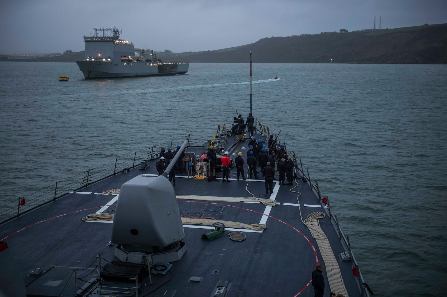 USS Porter Arrives In Plymouth, England