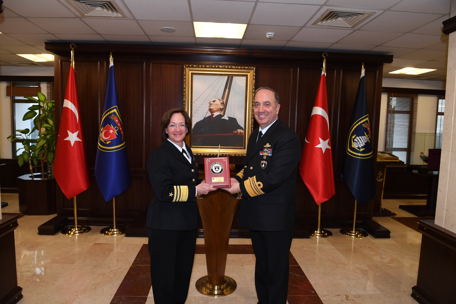 Vice Adm. Lisa Franchetti Turkey Visit