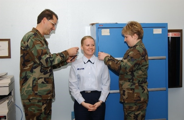 193rd Women's Firsts – The 193rd Special Operations Maintenance Squadron's first female commander, Lt. Col. Amy Crossley, took command June 11, 2016. Pictured here, Crossley is being promoted to 1st Lt in December of 2003.