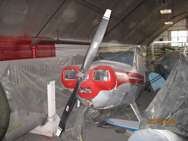DAYTON, Ohio -- The 1947 Luscombe 8A currently in storage at the National Museum of the United States Air Force. (U.S. Air Force photo)