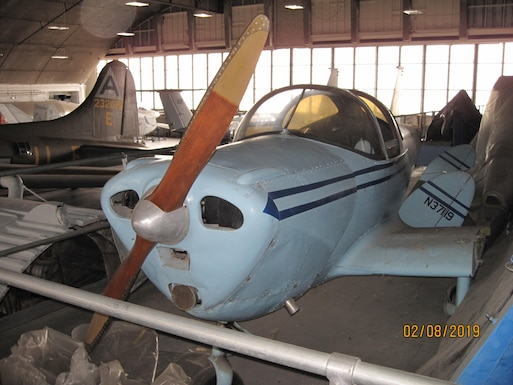 DAYTON, Ohio -- 1941 Ercoupe 415-C currently in storage at the National Museum of the United States Air Force. (U.S. Air Force photo)