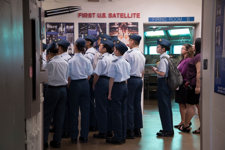 Royal Canadian Air Cadets from Toronto, Canada, visit the Air Force Space and Missile Museum during their tour of Cape Canaveral Air Force Station, Fla on March 11, 2019.