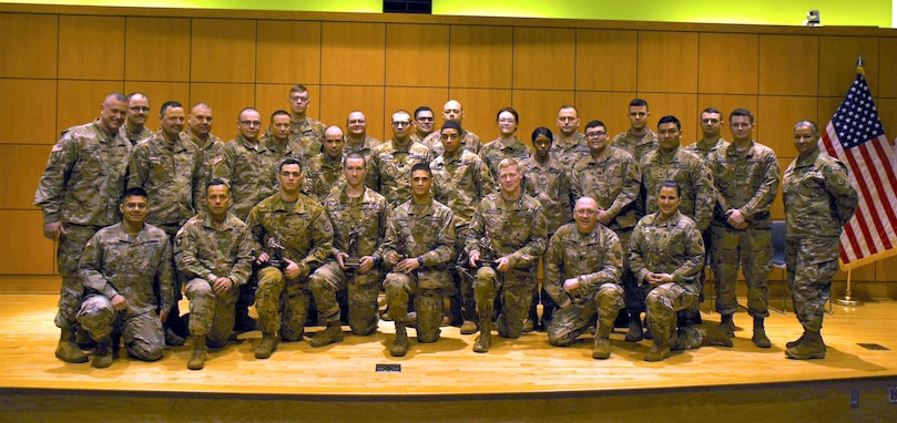 316th ESC soldiers test for the Best Warrior