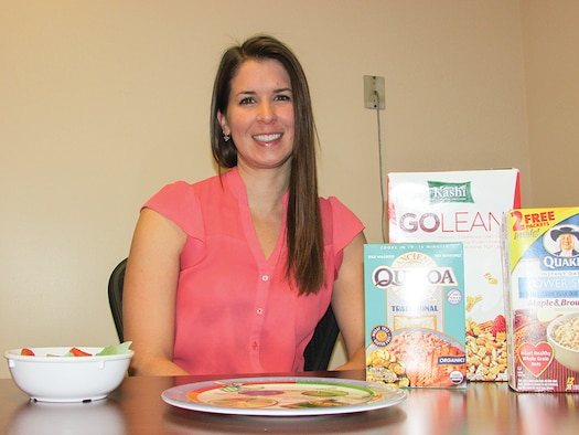Kirtland's registered dietician, Kirsten David. (Photo by Argen Duncan)