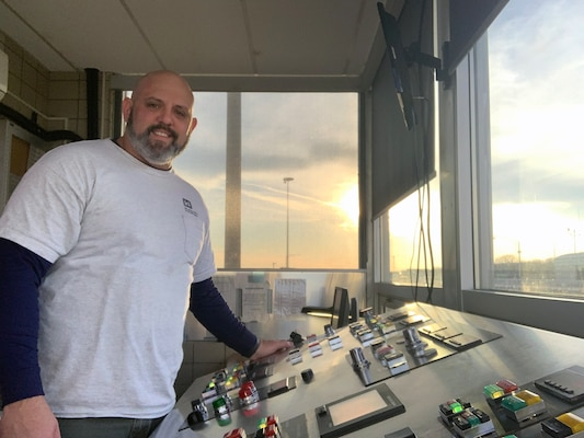 Daniel Keenum, a Lock and Dam operator at the Wilson Lock, is the Nashville District Employee of the Month for January 2019.